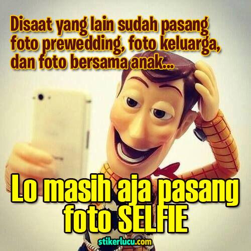 dp bbm lucu selfie