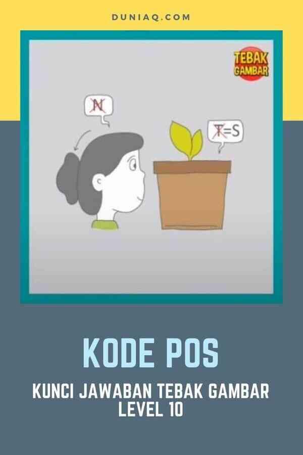 Jawaban Tebak Gambar Level 10 KODE POS