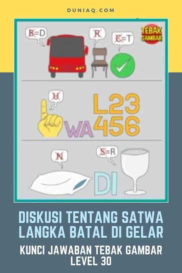 LEVEL 30 DISKUSI TENTANG SATWA LANGKA BATAL DI GELAR
